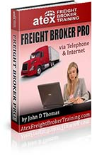 Freight broker one-on-one training via telephone and internet